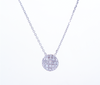 Pave Setting Round Diamond Pendant Necklace