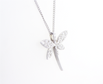 Dragonfly Diamond Necklace Pendant