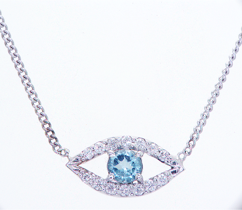 Evil Eye Diamond Necklace Pendant