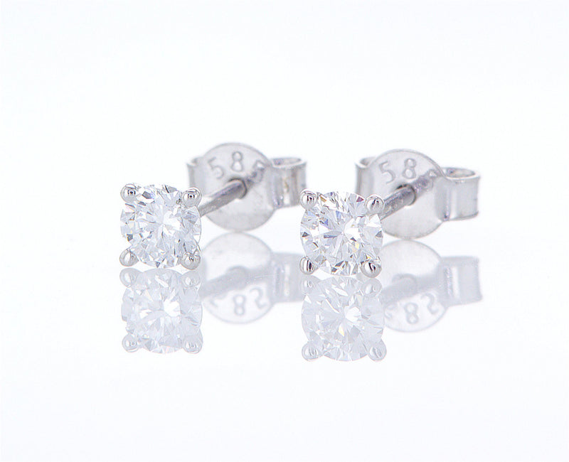 Stud Diamond Gold Earrings