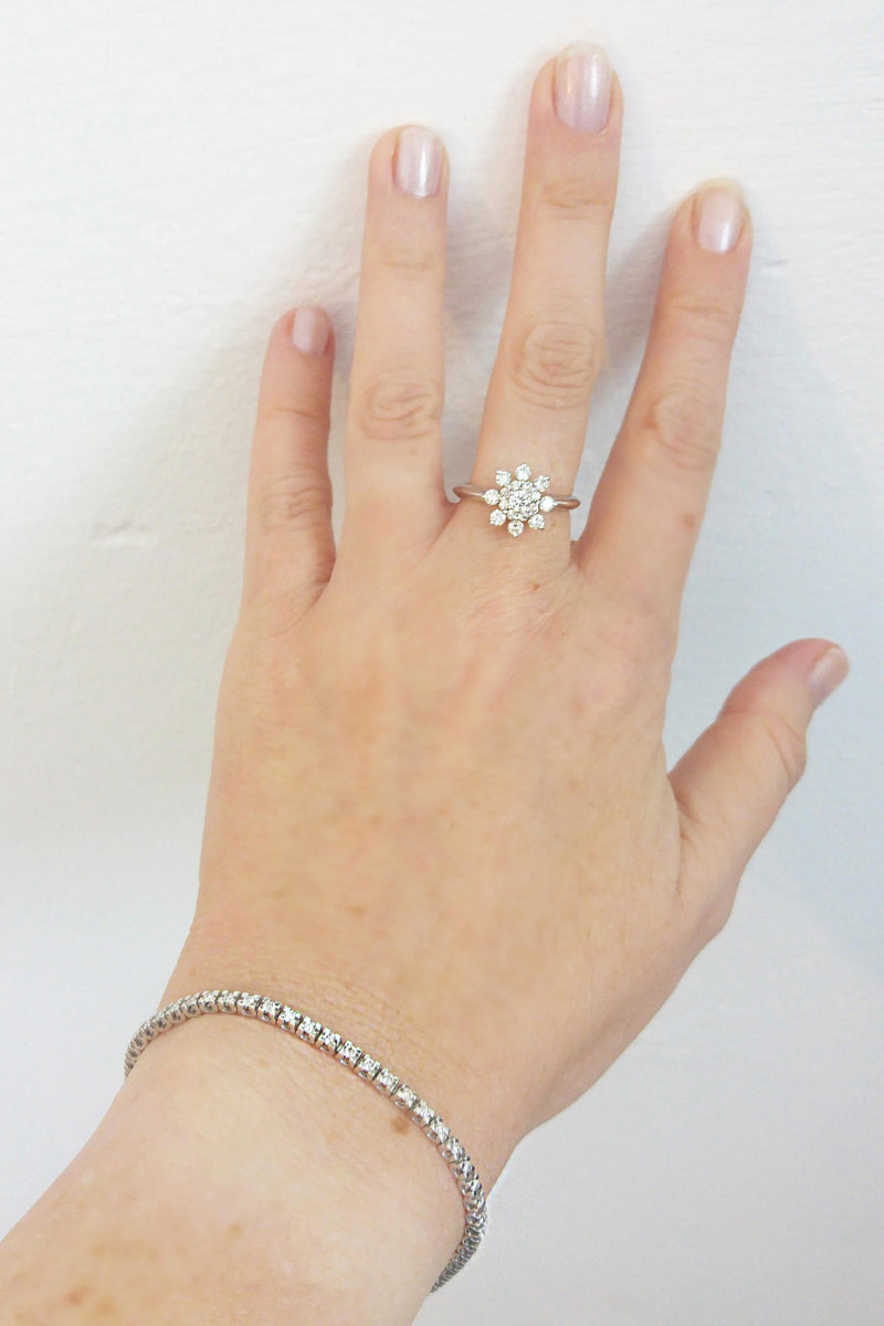 Diamond Snowflake Engagement Ring