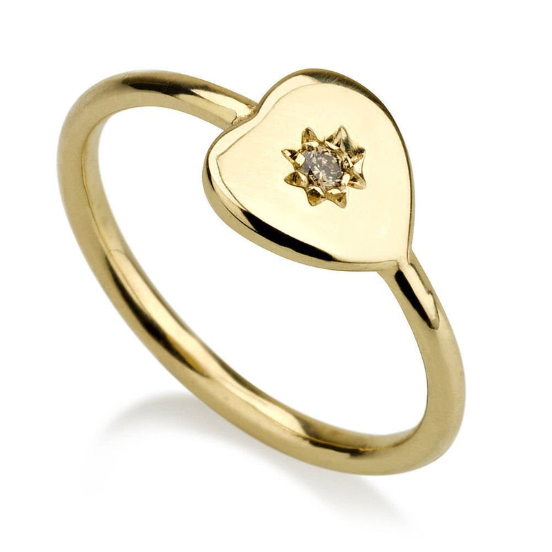Heart Signet Ring - Pinky Ring