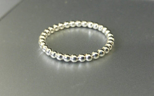 Ball White Gold Wedding Band Ring