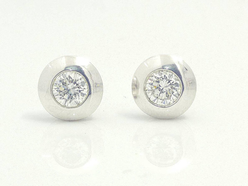 Diamond Bezel Stud Earrings (0.60 ct. t.w.) in 14k Gold