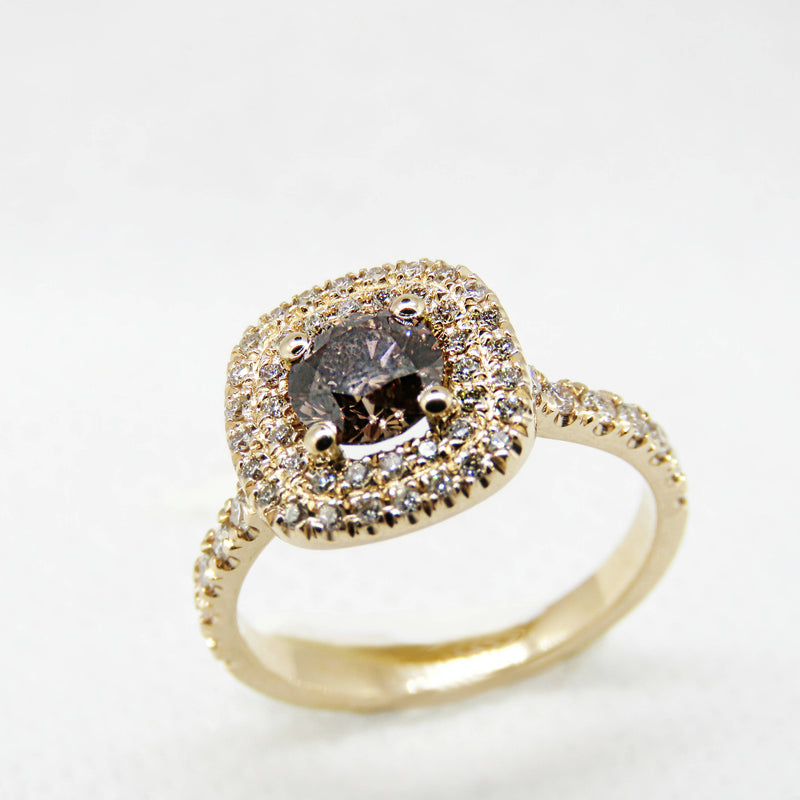 Fancy Brown Rose Gold Ring -  Chocolate Diamond Ring