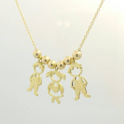 Children Charms Mother Gold Necklace