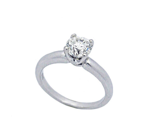 Classic Four-Claw Solitaire Diamond Engagement Ring