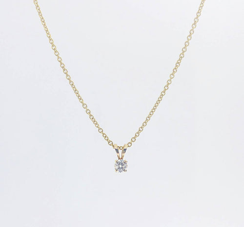 Classic 0.30 Carat Diamond Solitaire Necklace