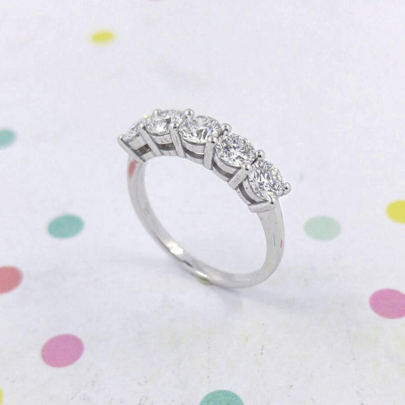 Five Stone Diamond Wedding Ring