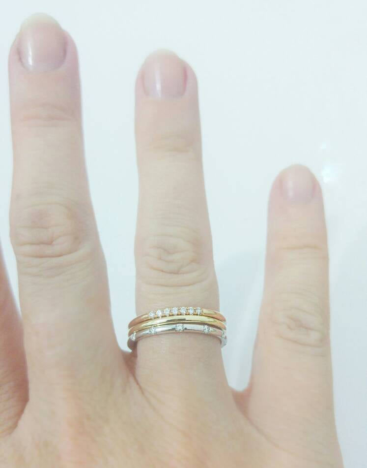 Gold Stacked Ring Set