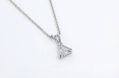 Triangle Diamond Solitaire Necklace
