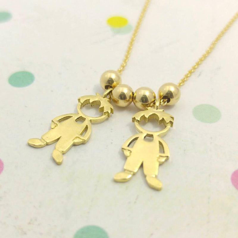 Baby Charm Gold Necklace Pendant