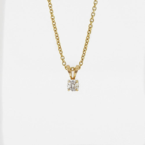 Solitaire Diamond Gold Necklace Pendant