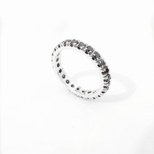 Black Eternity Diamond Band - Black Eternity Diamond Ring