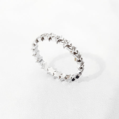 Star Diamond Wedding Ring