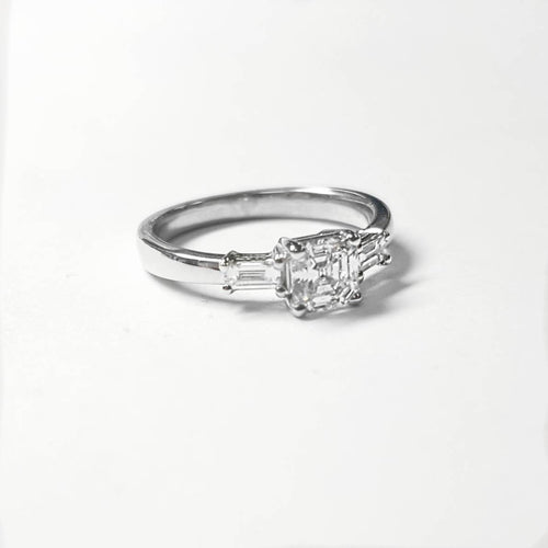 Art Deco Asscher Cut Engagement Ring