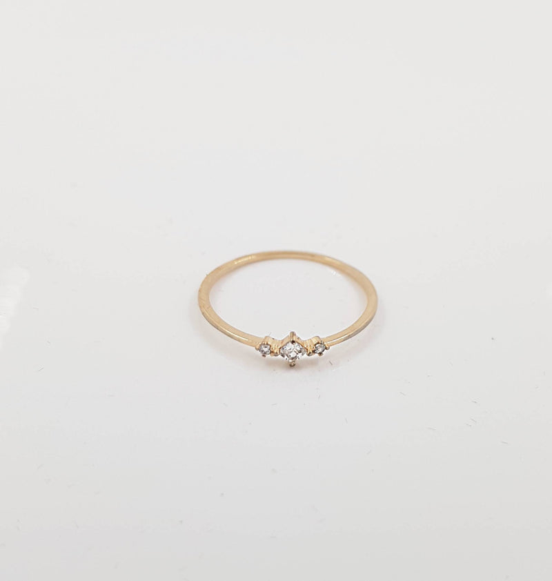 Princess Diamond Minimalist Thin Ring