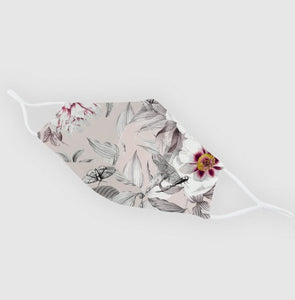 Reusable Silk Face Covering Mask - Limited Edition Spring Time print