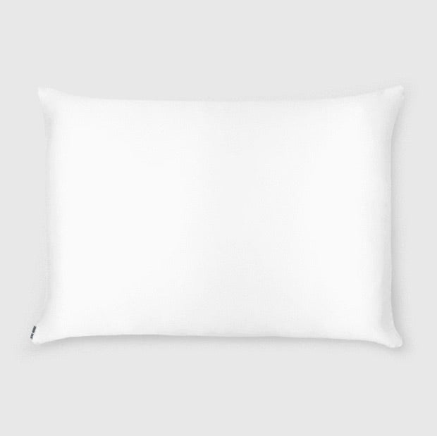 Shhh Silk - LIMITED EDITION Pure White Silk Pillowcase - Queen Size - Zippered