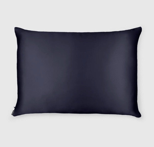 Shhh Silk - Navy Silk Pillowcase - Queen Size