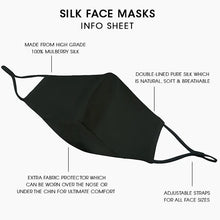 Load image into Gallery viewer, Reusable Silk Face Covering Mask