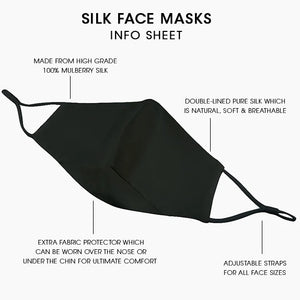 Reusable Silk Face Covering Mask