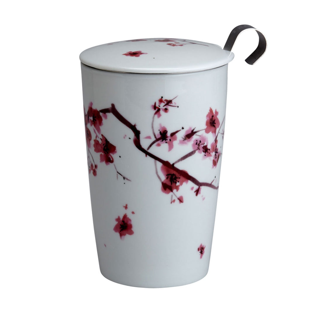 Teaeve Cherry Blossom Porcelain Cup (with infuser)
