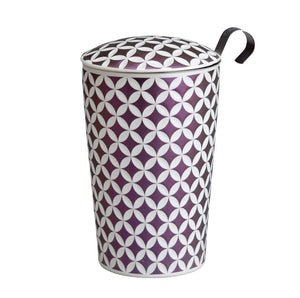 Teaeve May Lin Porcelain Cup (with stainless steel infuser) - Mauve