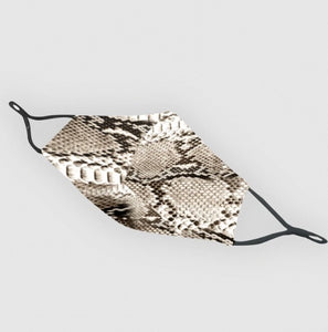 Reusable Silk Face Covering Mask - Limited Edition Snake Skin print