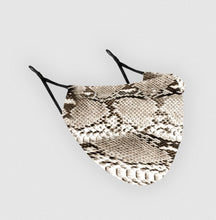 Load image into Gallery viewer, Reusable Silk Face Covering Mask - Limited Edition Snake Skin print