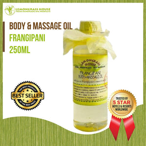 Lemongrass House Frangipani Body and Massage Oil 250ml