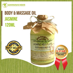 Lemongrass House Jasmine Body and Massage Oil 120ml