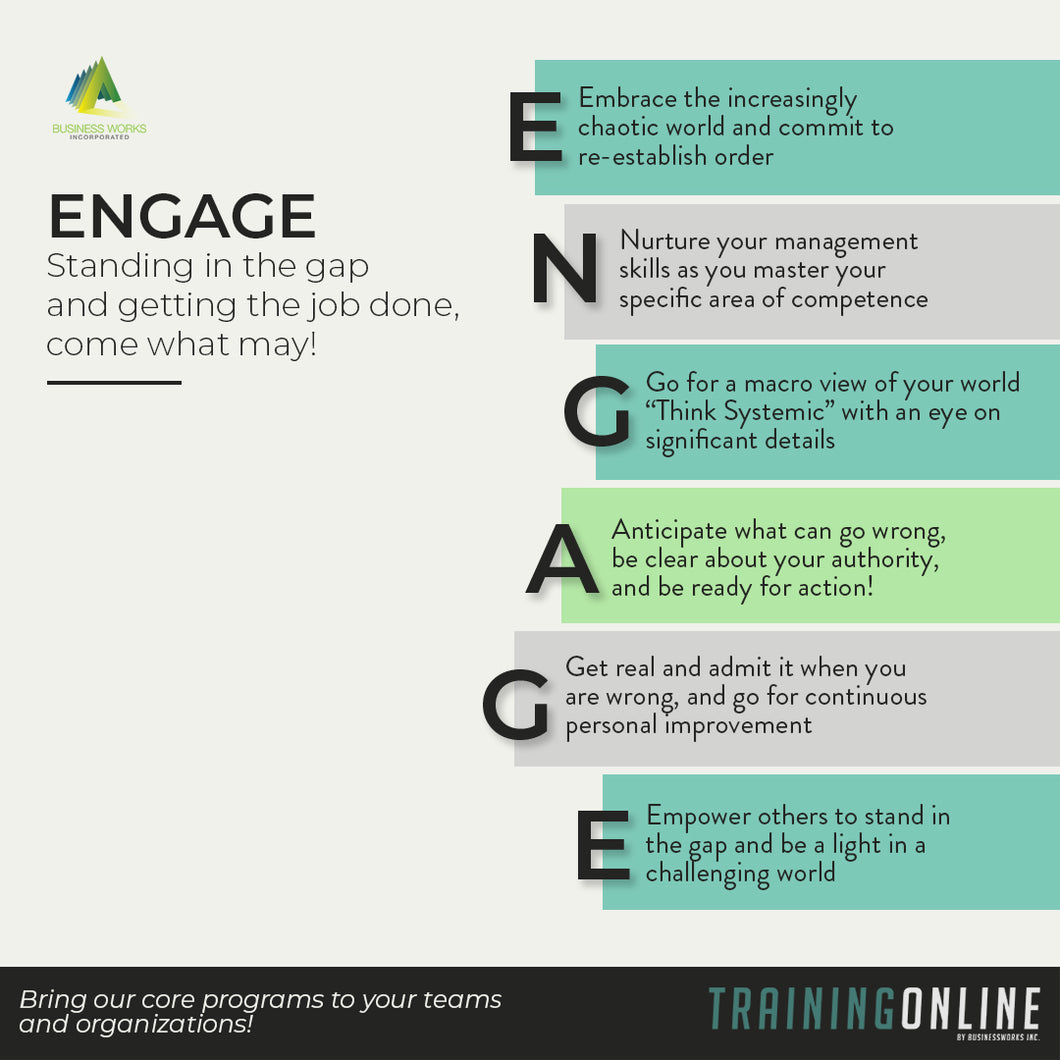 ENGAGE: Standing in the Gap