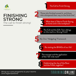 The Call to Finish Strong