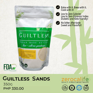 Guiltless Sands 350g (LOW Calorie & LOW Glycemic Sugarcane-Based Sweetener)