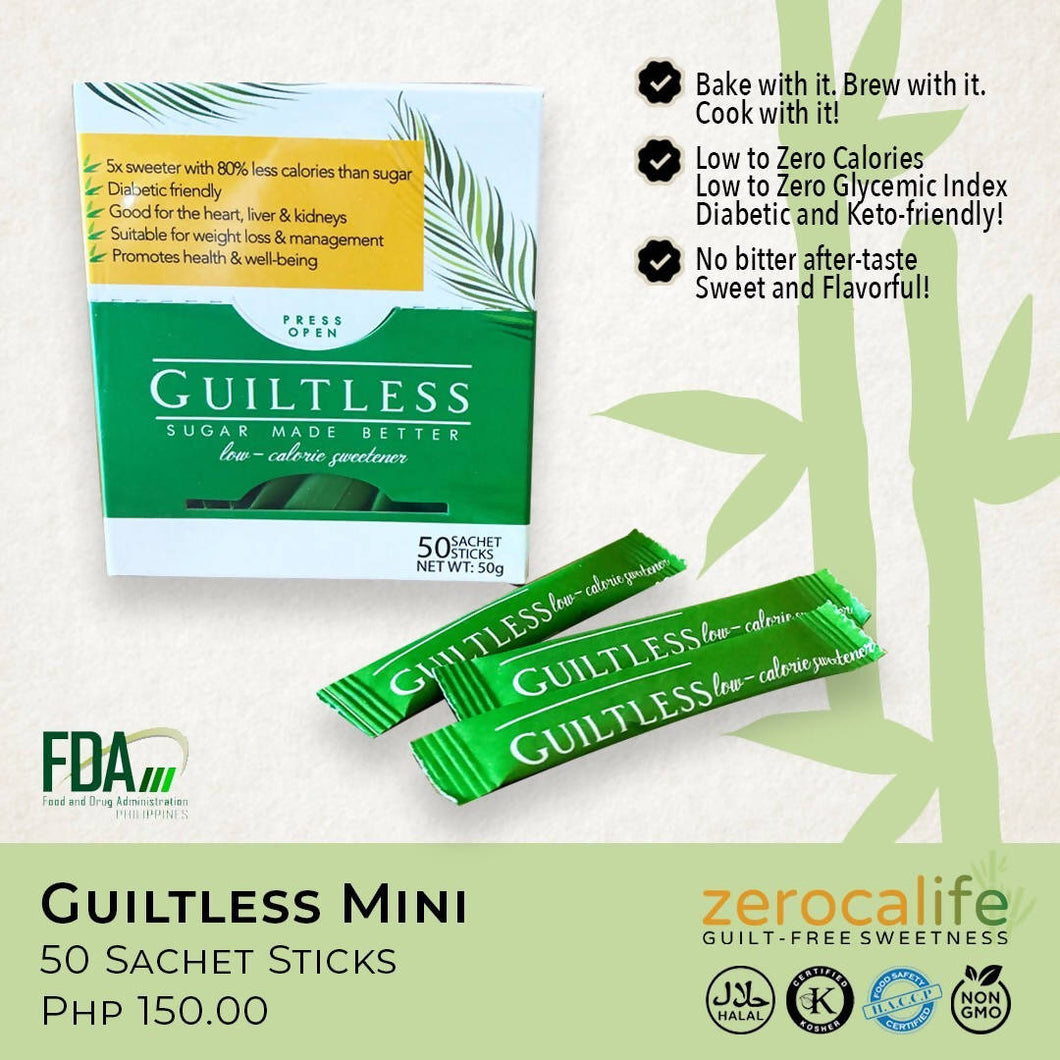 Guiltless Mini Sachet Sticks | Sugarcane-based Sweetener