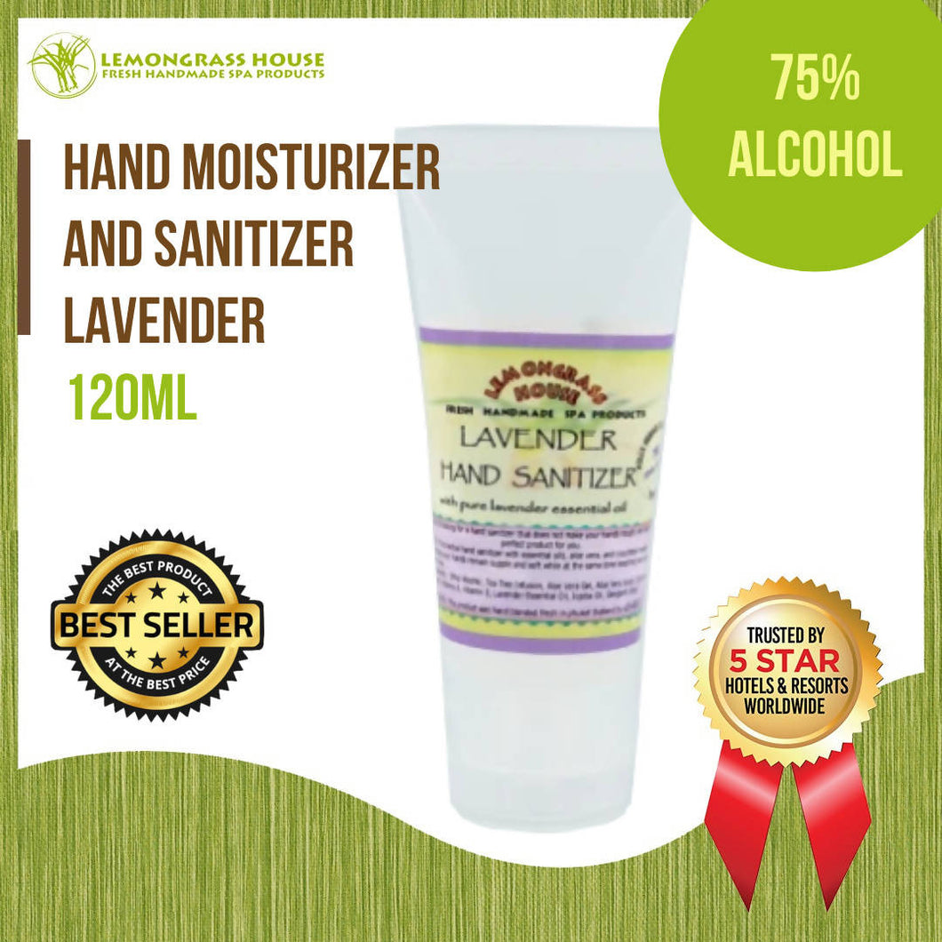 Lemongrass House Lavender Hand Moisturizer and Sanitizer 120ml