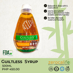Guiltless Zero Sugar Syrup 500ml (Sugarcane-based Syrup)