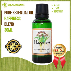 Lemongrass House Happiness Pure Essential Oil Blend, 100% Pure Therapeutic Grade, 30ML
