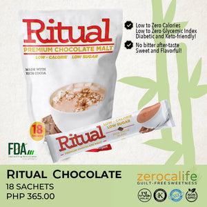 RITUAL CHOCOLATE MALT (LOW CALORIE & LOW GLYCEMIC INDEX)