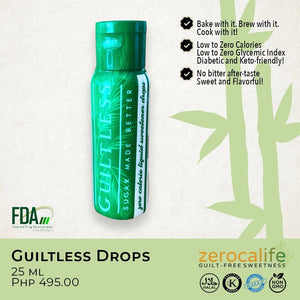 Guiltless Drops 25ml (ZERO calorie, ZERO carbohydrates, ZERO cholesterol & ZERO glycemic index)