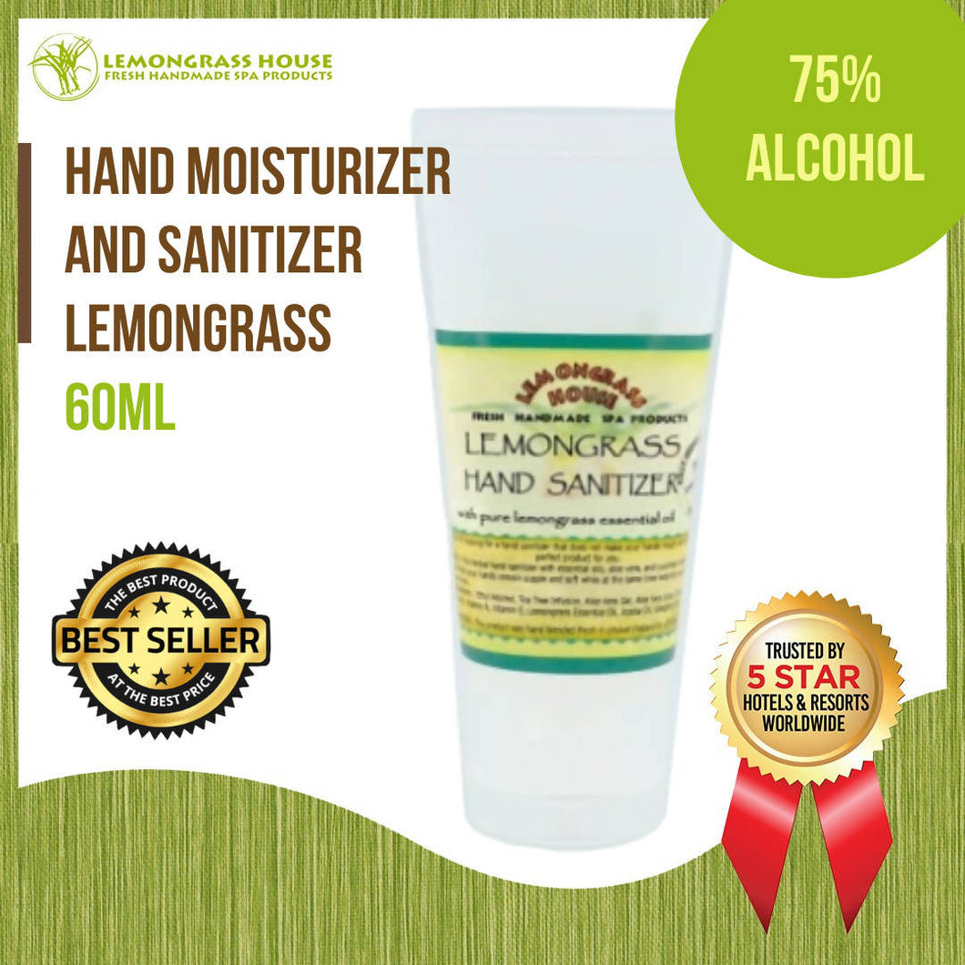 Lemongrass House Lemongrass Hand Moisturizer and Sanitizer 60ml