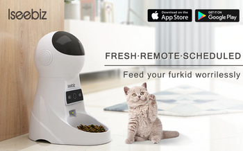 Smart Pet Cat Dog Feeder Food Dispenser with WiFi Phone Programmable Recorder