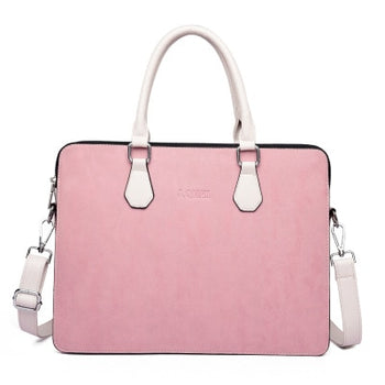 Women's Leather-like Waterproof Laptop Business Shoulder Hand Bag For MacBook or Computers 13.5 - 15.6