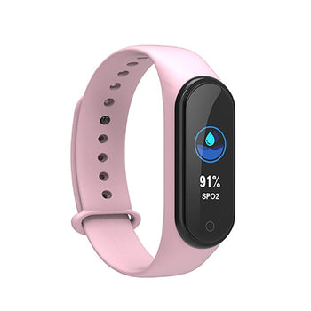 Smart Fit Blood Pressure, Heart Rate, Step Count, Calories Watch Fitness Tracker; Messege Reminder