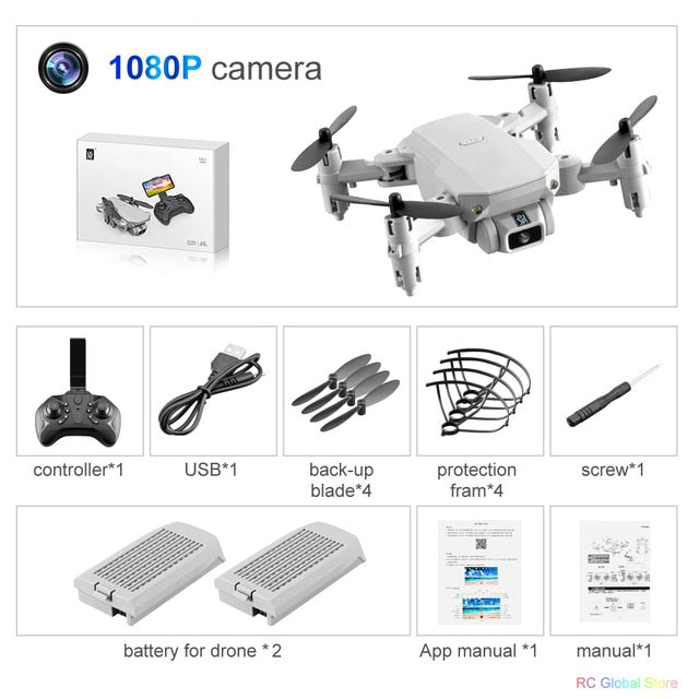 Sky Divers Foldable 4K HD or 1080P Camera Drone; Use with Joystick, WiFi, Phone, USB; 1-3 Batteries; as low as $98