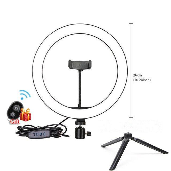Selfie, Makeup, Photographers LED Dimmable Ring Light with 3-Color Light Shades