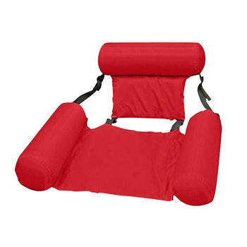 Foldable Swimming Chair Inflatable Floating Row Backrest Air Mat Chair