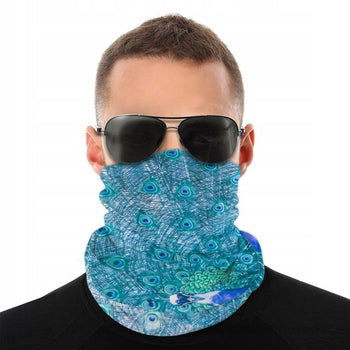 Peacock Neck and Face Mask, Unisex Seamless Bandana, Headband, Windproof