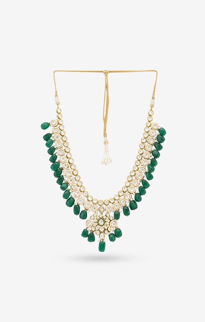 Big Green Emerald Necklace
